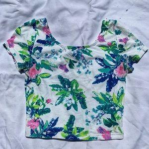 Tropical/Floral H&M Crop Top